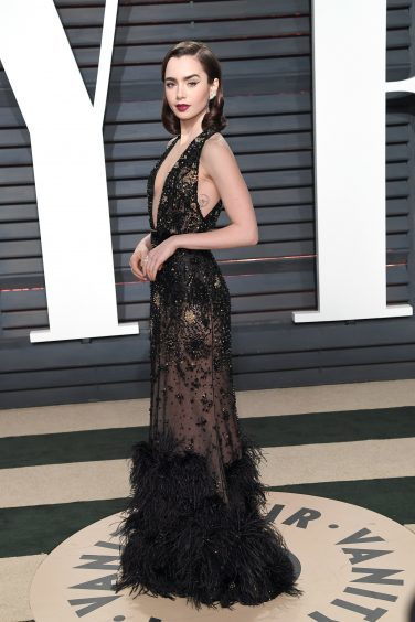 Lily Collins. Photo credit: PA/PA Wire