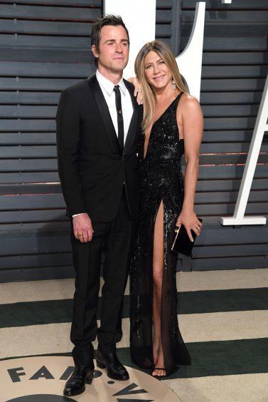 Justin Theroux and Jennifer Aniston. Photo credit: PA/PA Wire