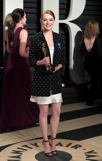 Emma Stone. Photo credit: PA/PA Wire