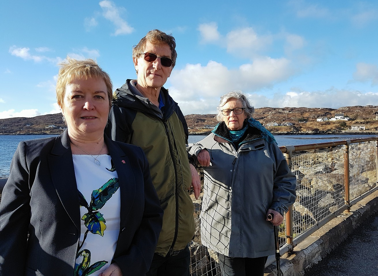 """Rhoda Grant and local Assynt community leaders had """"constructive talks"""" with the ambulance service boss."""