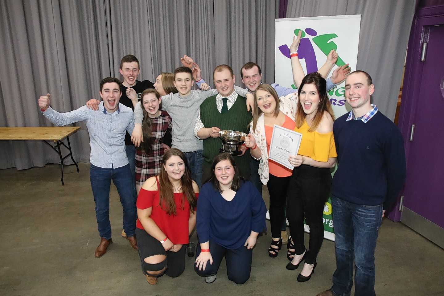 The winning team from Alford and Mid Deeside YFC with William Mackie from the sponsors