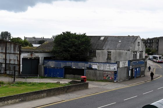 The buildings demolished as part of the Berryden Corridor project
