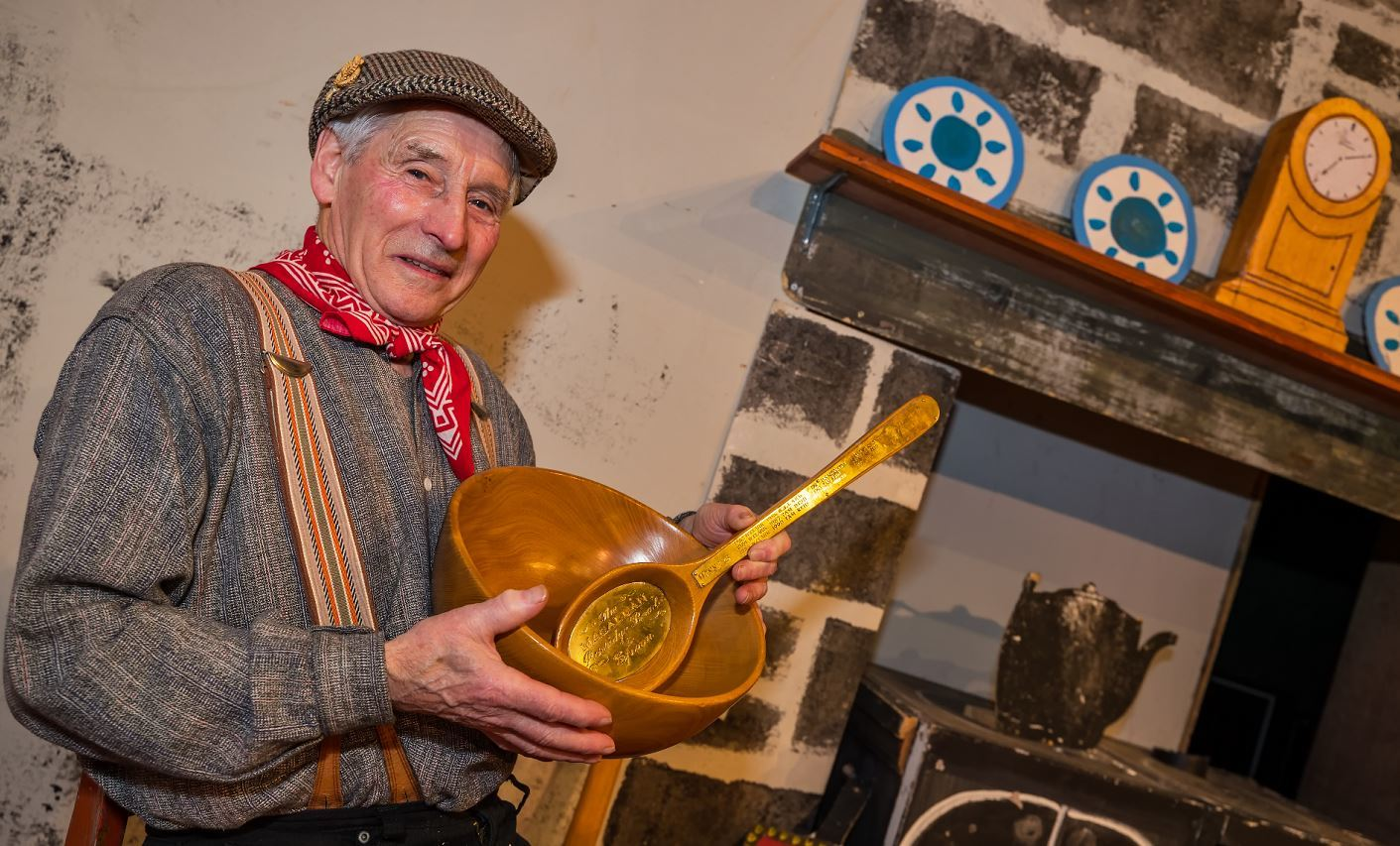 Hector Riddell is only the third person to win the Bothy Ballads contest five times.