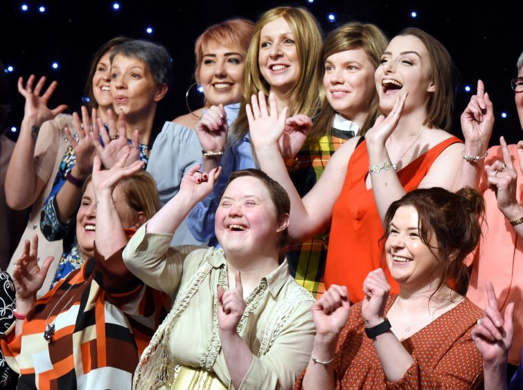 Courage on the Catwalk models revealed at Aberdeen Beach Ballroom. Pictures by Kevin Emslie