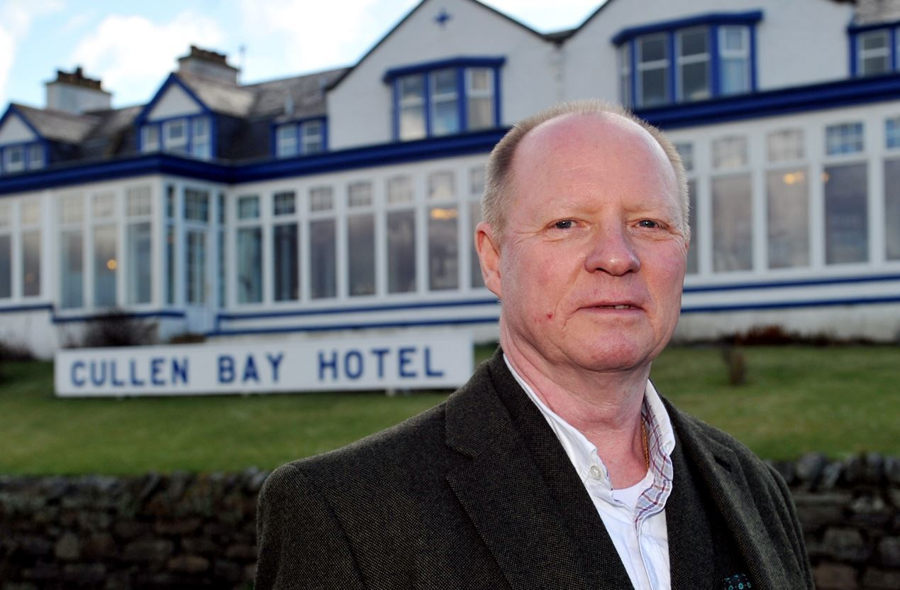 Ian Watson, owner of the Cullen Bay Hotel,  considers £200,000 expansion postponed by rate hike