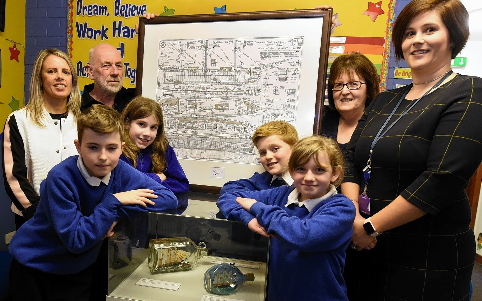 The Cutty sark Museum project arrives at Bervie school, Inverbervie. Picture by Jim Irvine
