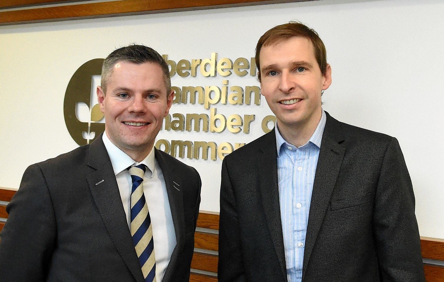 Scottish Government Finance secretary Derek Mackay and James Bream, Aberdeen and Grampian Chamber of Commerce research and policy director