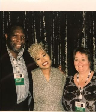 Emeli with her parents