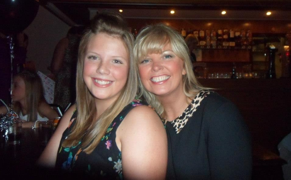 Emma Sim and mum Heather