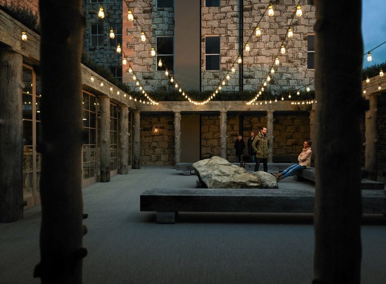 Artist impressions of plans for the old hotel