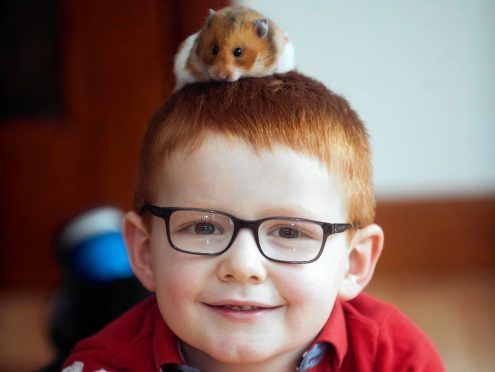 Liam Lawrie from Peterhead with Gingy