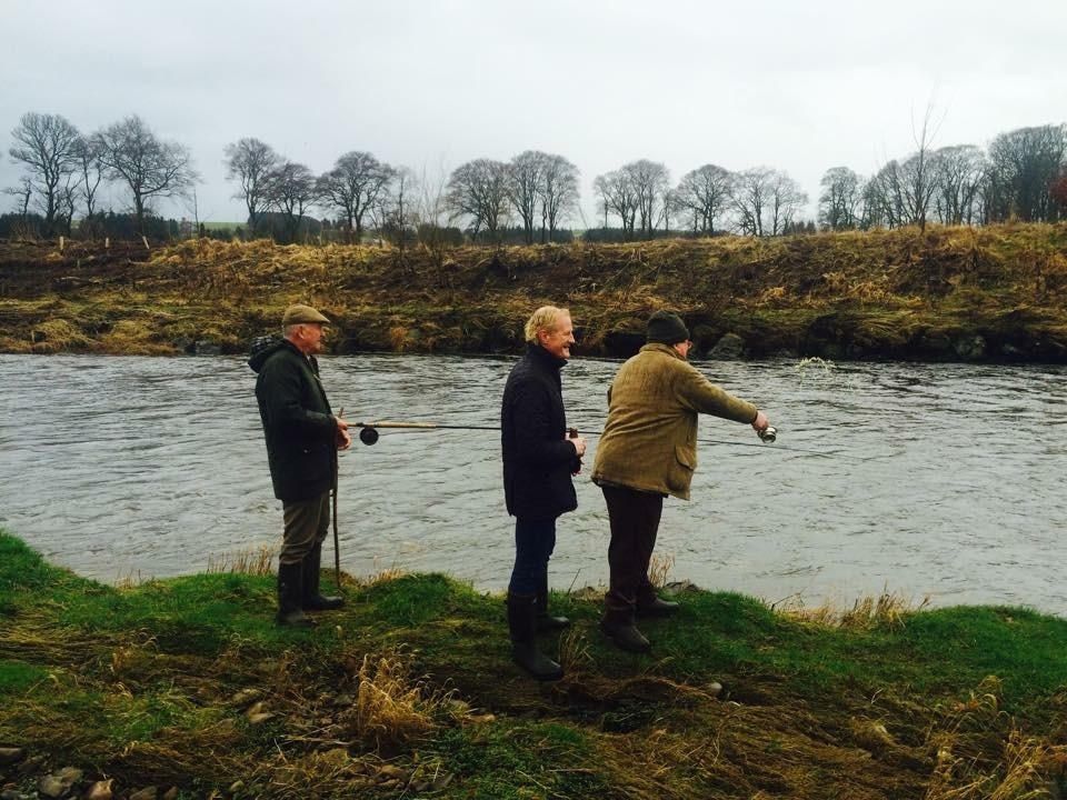 Colin Hendry at the River Deveron on Saturday