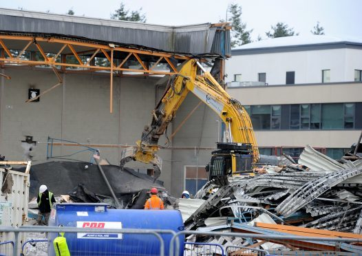 Work is now well underway  on the demolition of the former Inverness Royal Academy.