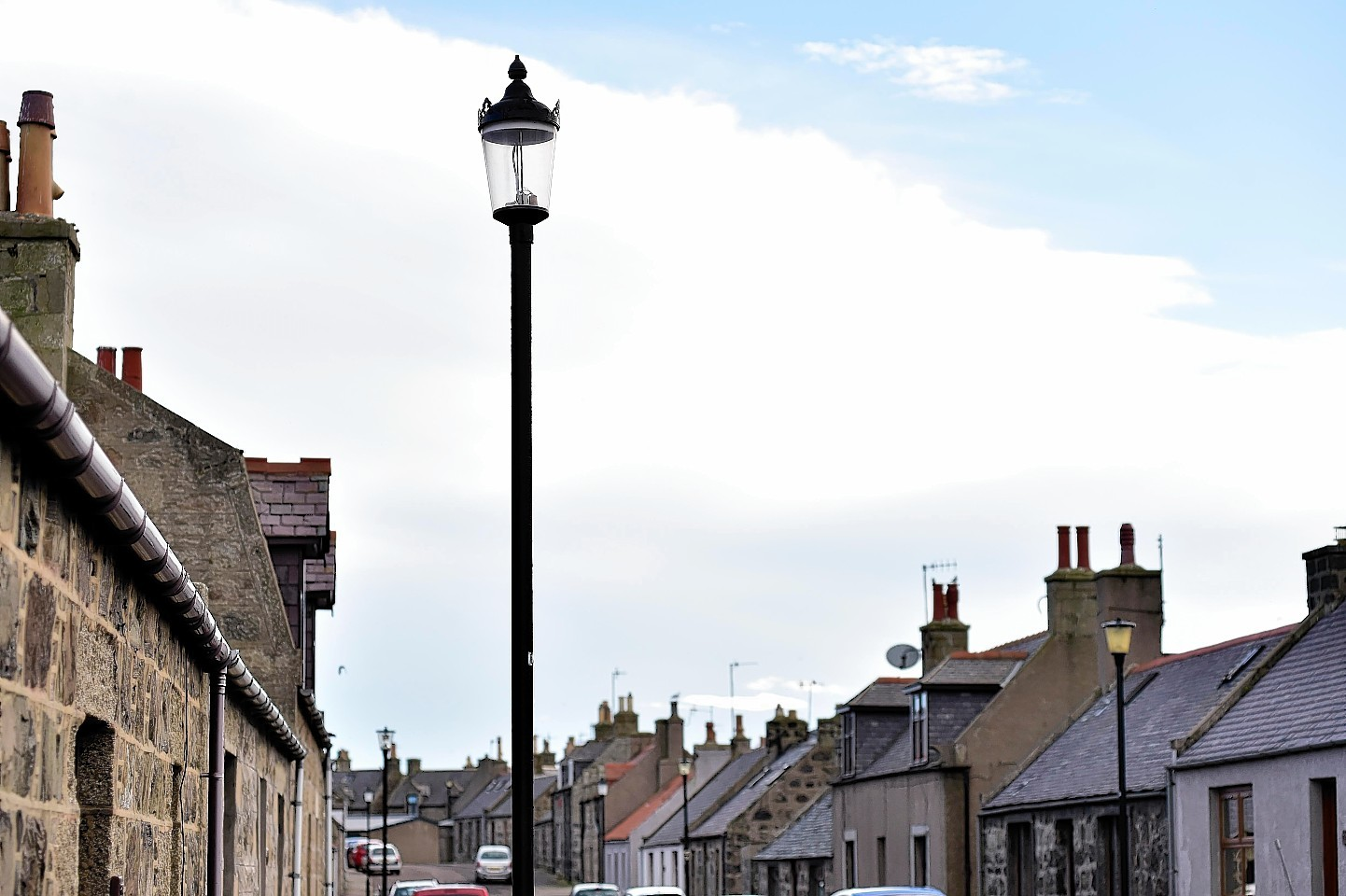 The lamp posts at Broadsea are set to be replaced