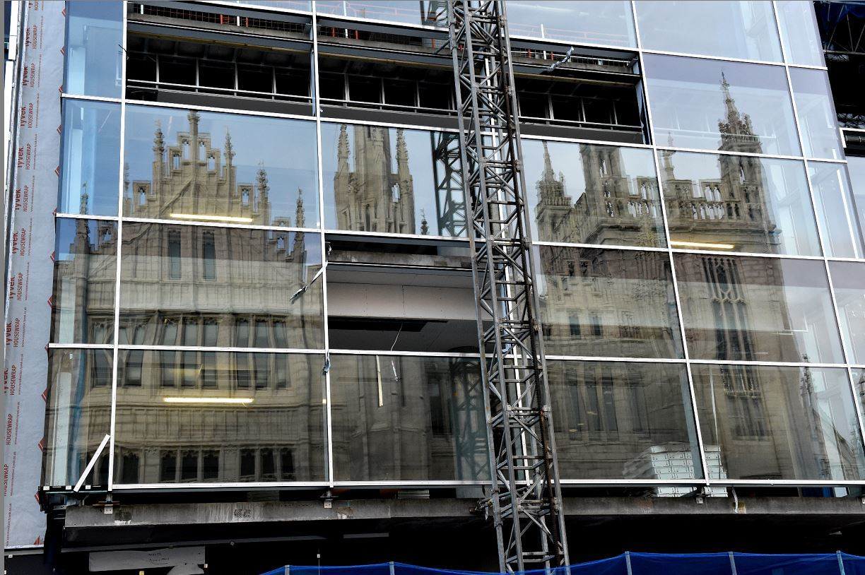 Work continues on the Marischal Square development