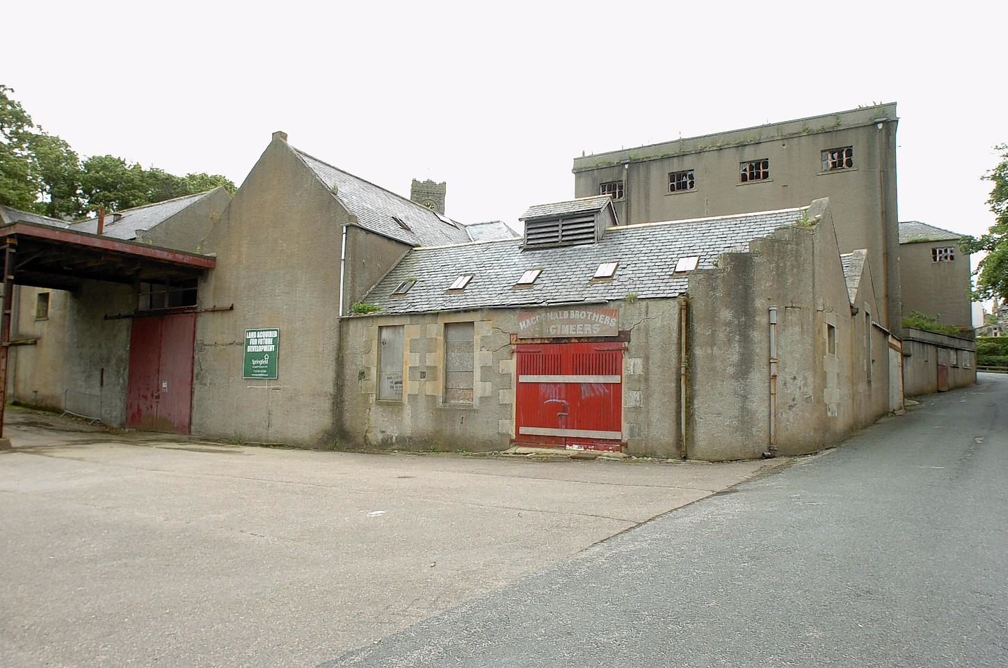 The former mill site at Portsoy.