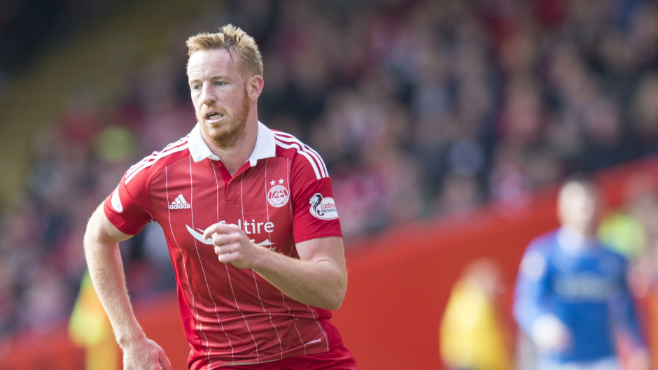 Adam Rooney scored a hat-trick for the Dons