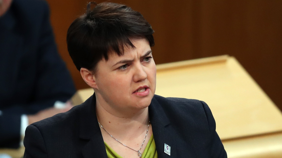 Scottish Conservative leader Ruth Davidson.