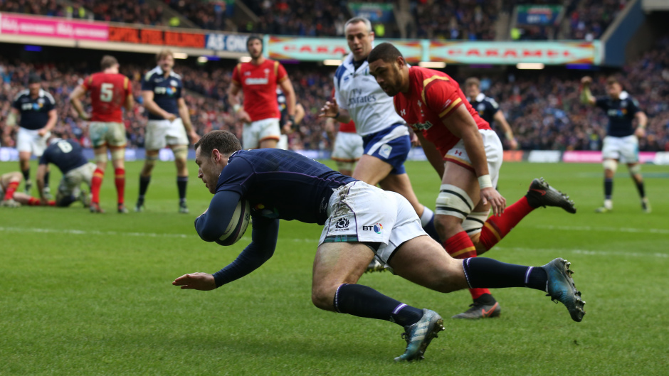 Tim Visser defied his critics to score Scotland's second try