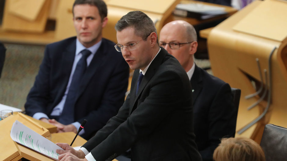 Finance Secretary Derek Mackay has said his Budget would protect low and middle income earners (Scottish Parliament/PA Wire)