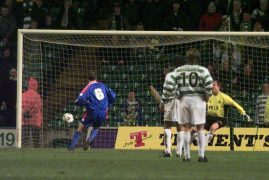 Paul Sheerin netted Caley Jags' third goal in their famous 3-1 victory against Celtic in 2000.