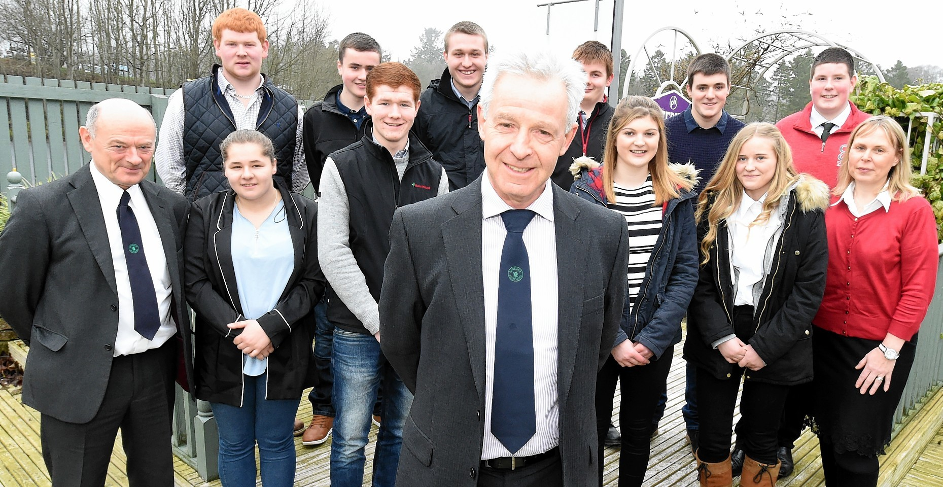 In the picture are front from left: Graham Bruce, managing director: Alannah Craig, Euan Gray, Andrew Moir, chairman: Lyndsay Nelson, Ruth Beaton and Gail Robertson, marketing and development manager. Back row from left: Andrew Beattie, Jordan Stewart, Ben Franklin, Russell Leslie, Liam Teunion and Harry Sleigh.