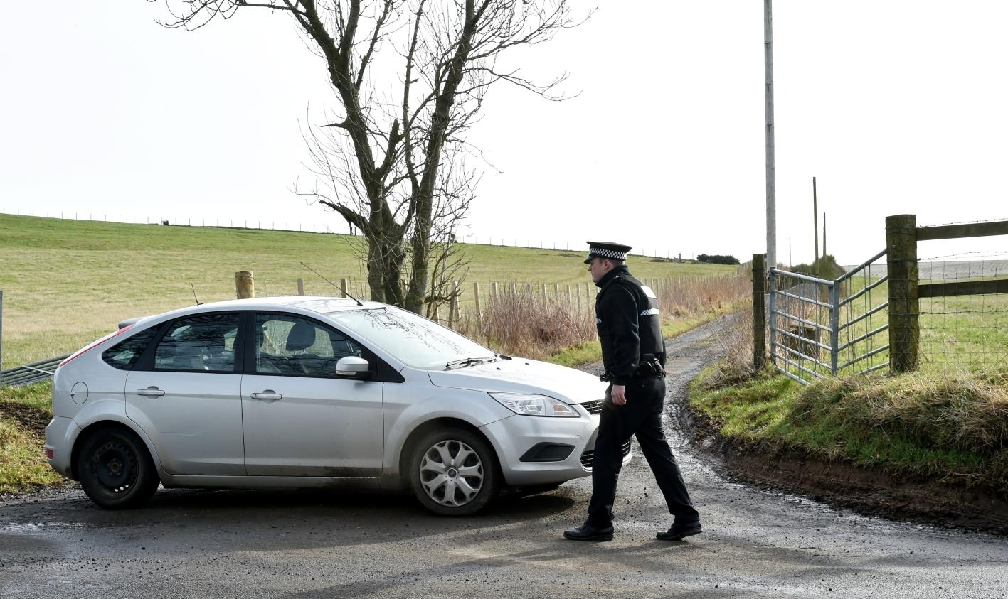 Police at the centre of Rothienorman