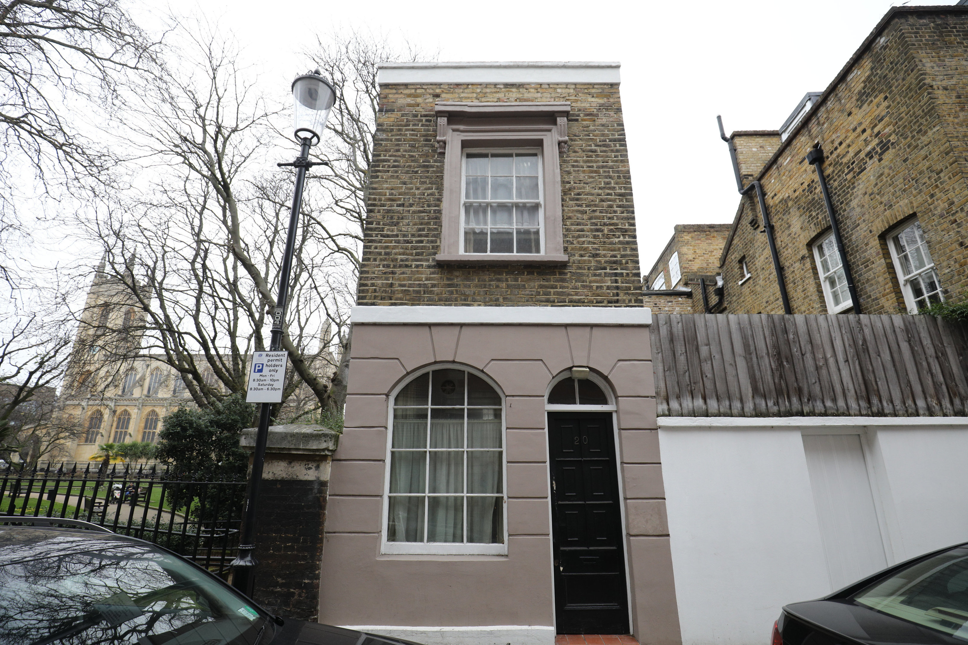 Pictured: One of central London's smallest detached homes.
