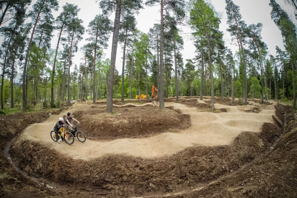 The Paddock Pump track currently open at Tarland Trails