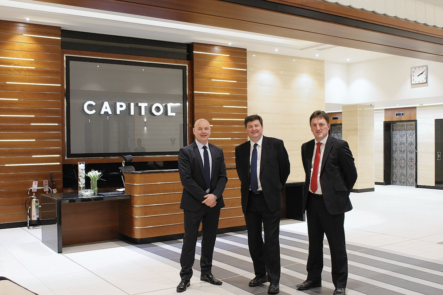 Left to Right. Howard Crawshaw, director at Knight Property Group, MMS Corporate Partner MMS corporate partner Gordon Hobkirk and MMS director David Rose