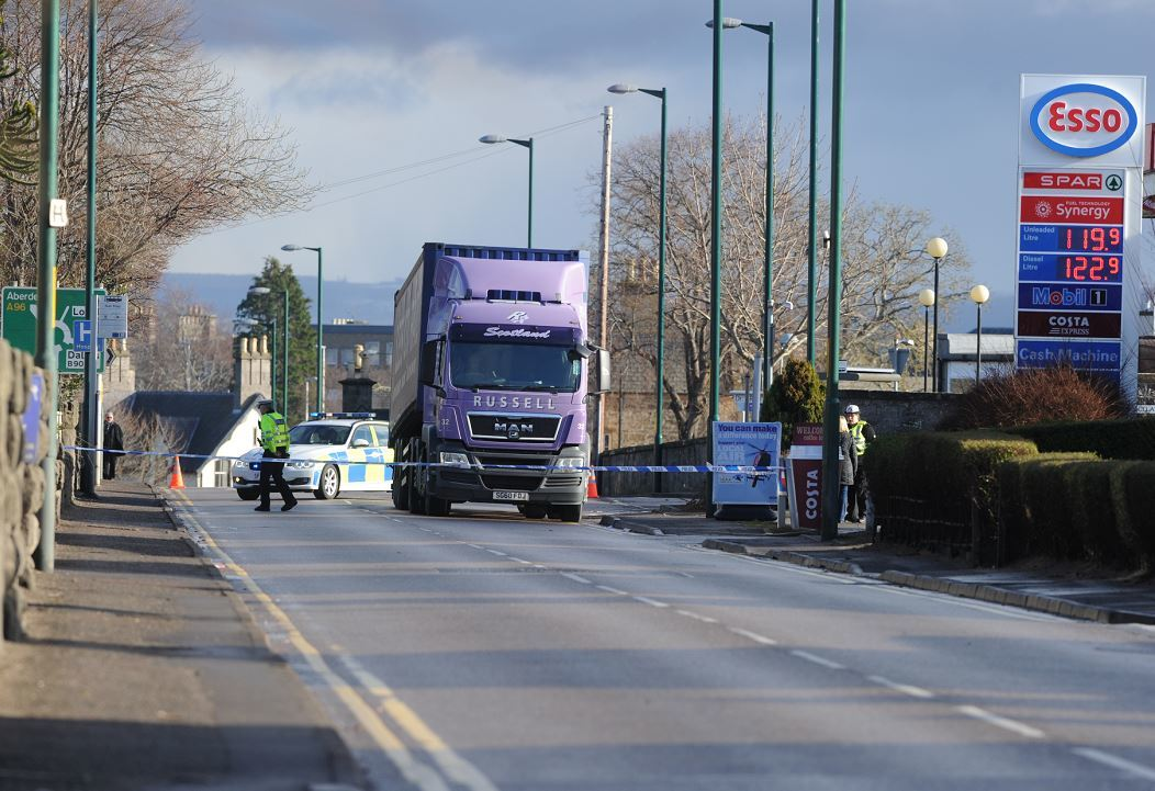 A man is in a life-threatening condition after he was hit by a lorry in Elgin.(Picture: Sandy McCook)