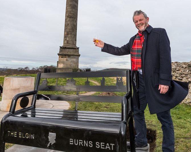 Elgin Burns Club president Donald Lunan raises a toast to the Bard.