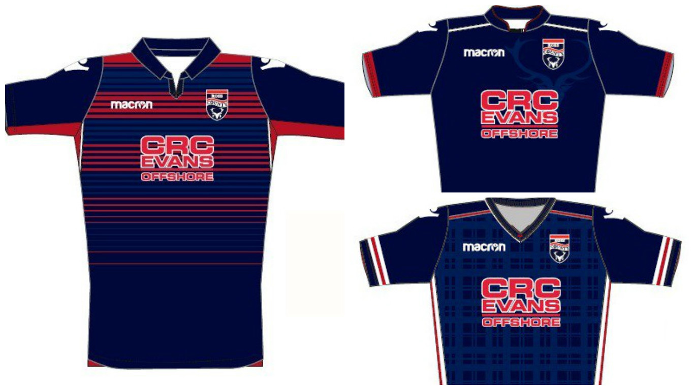 Ross County have offered three design options for next season's home kit.