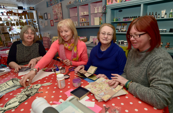 Crafters at Madhatters, Turriff