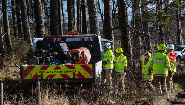 The driver has been injured in the one-vehicle crash.