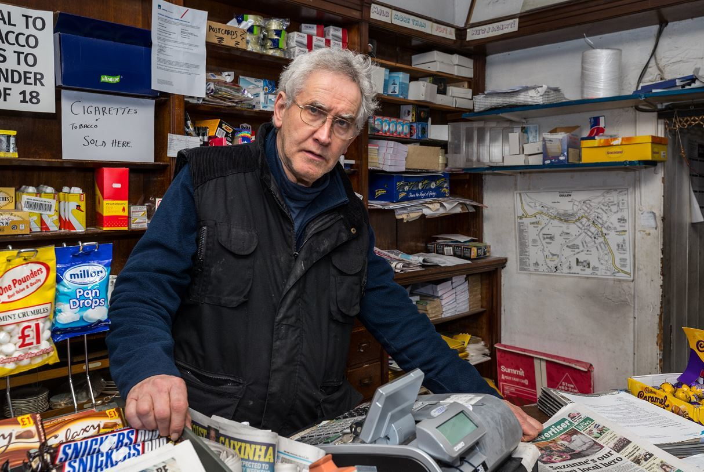 Alex Legge has run the Cullen Paper Shop for 21 years.