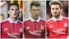 Kenny McLean, Ryan Jack and Graeme Shinnie