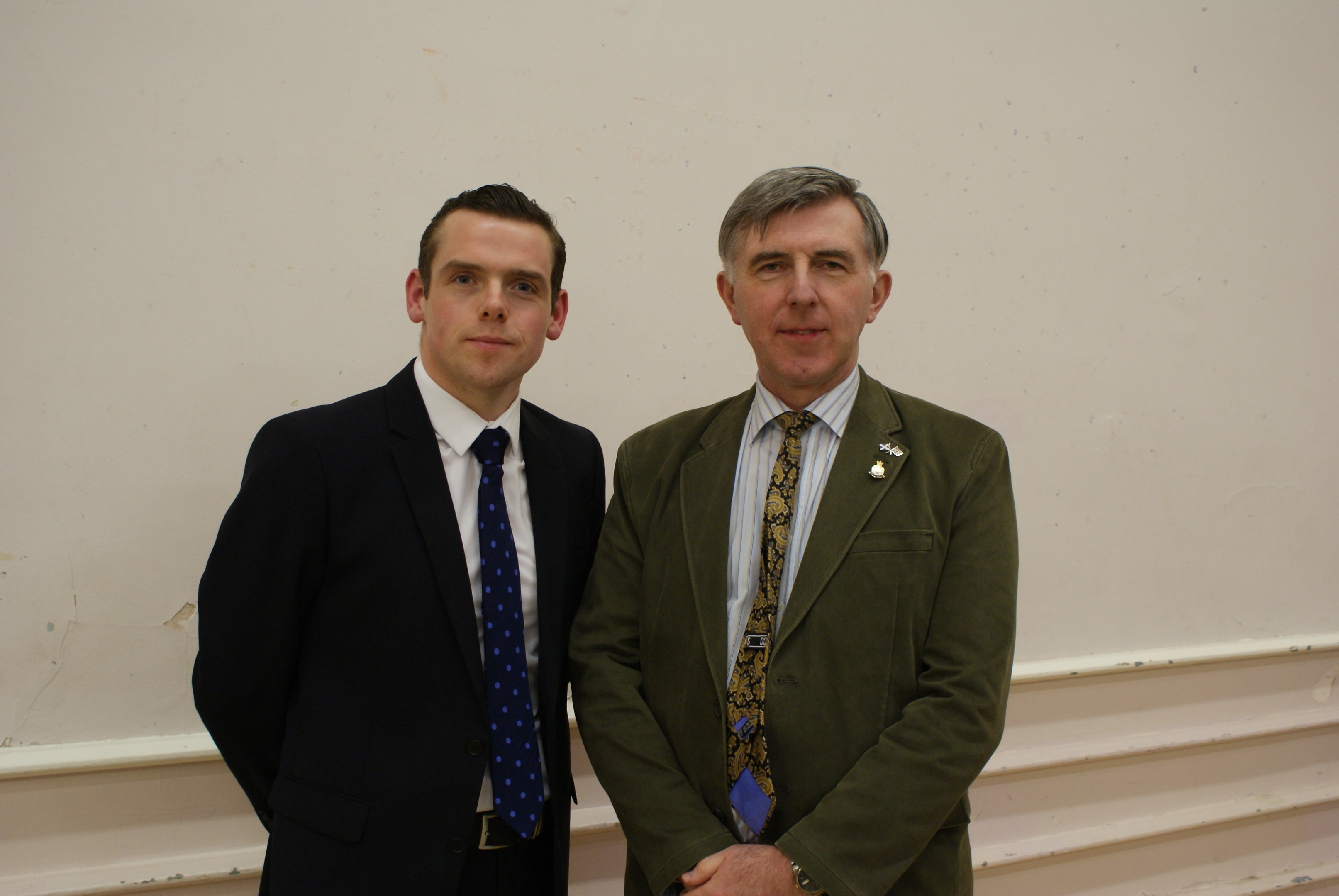 Highlands and Islands MSP Douglas Ross, pictured left, believes Donald Gatt's experience will be an asset to Moray Council.