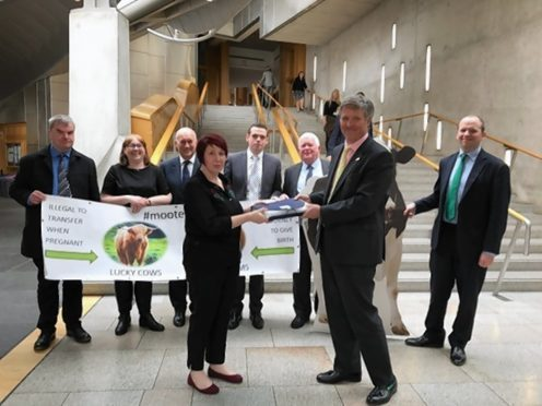 The Chat petition is handed over at Holyrood.