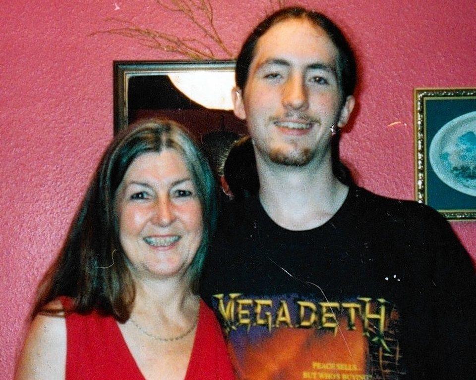 Edith Allan with her son Kyle
