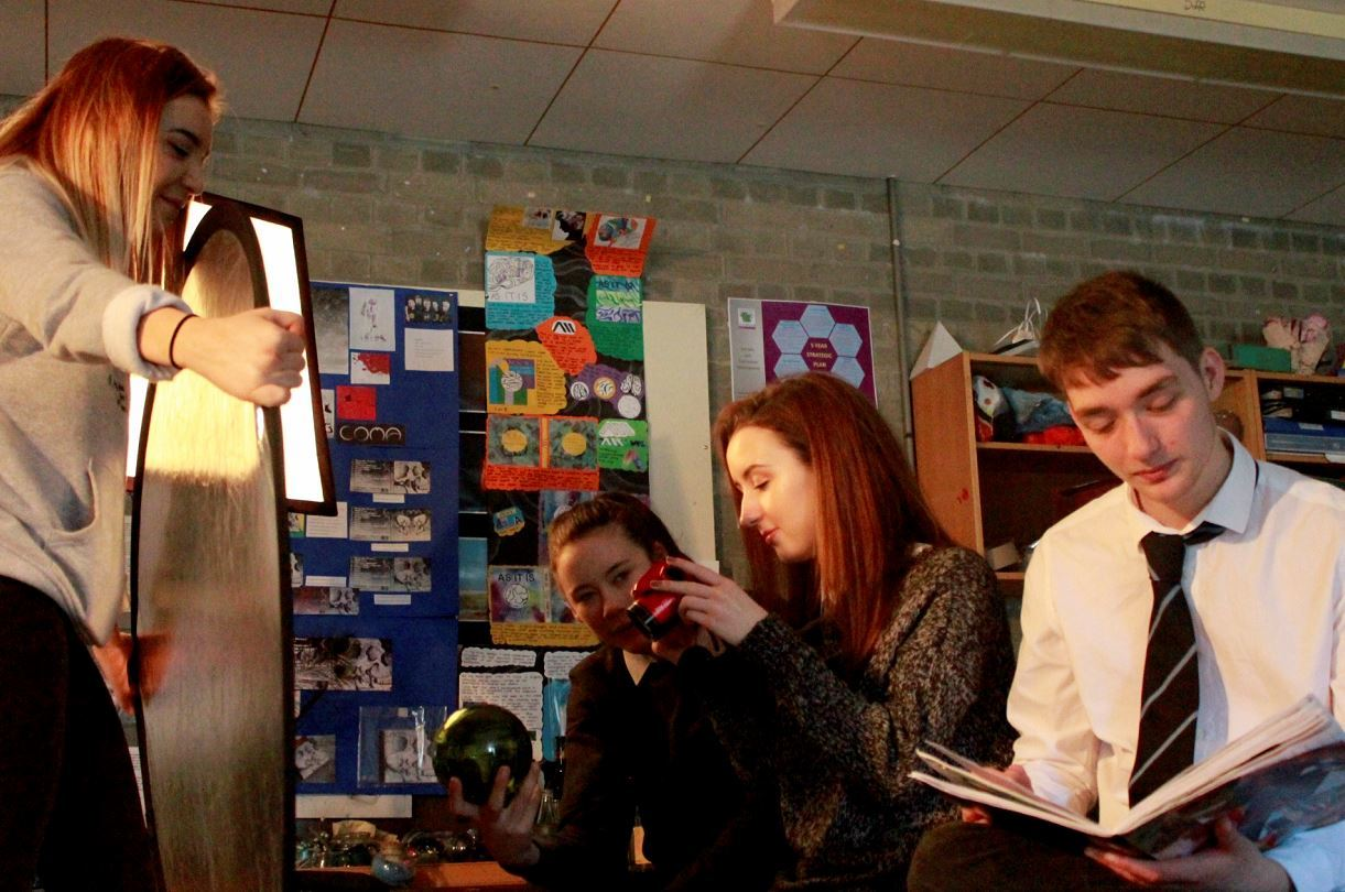 Elgin High School pupil Amy Gillespie's shot of the photography class featuring classmates  Chloe Yule, Vicky Stuart, Melissa Paul, and Sean Forrest.