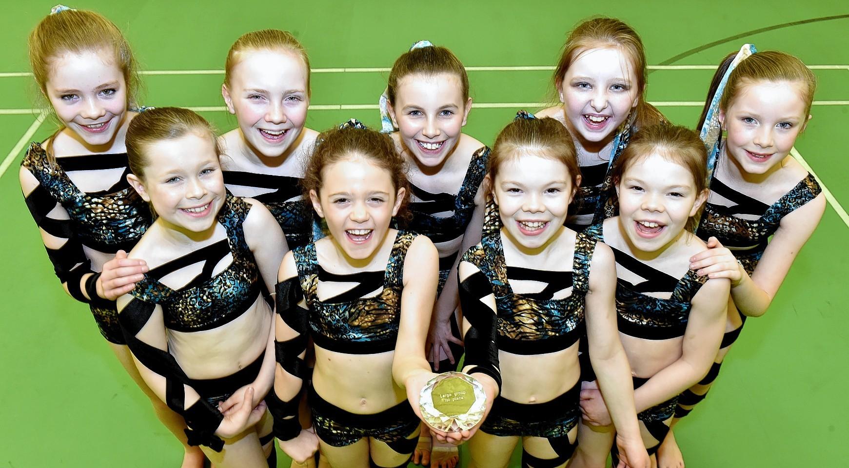 (back, from left) Grace Renforth, 10, Kate Duthie, 12, Hannah Alla, 12, Iona Leiper, 10, Hannah Cameron, 11(front, from left) Aimee Buchannan, 10, Mia Paoli, 10, Aimee Yule, 10 Abbie Yule, 10.