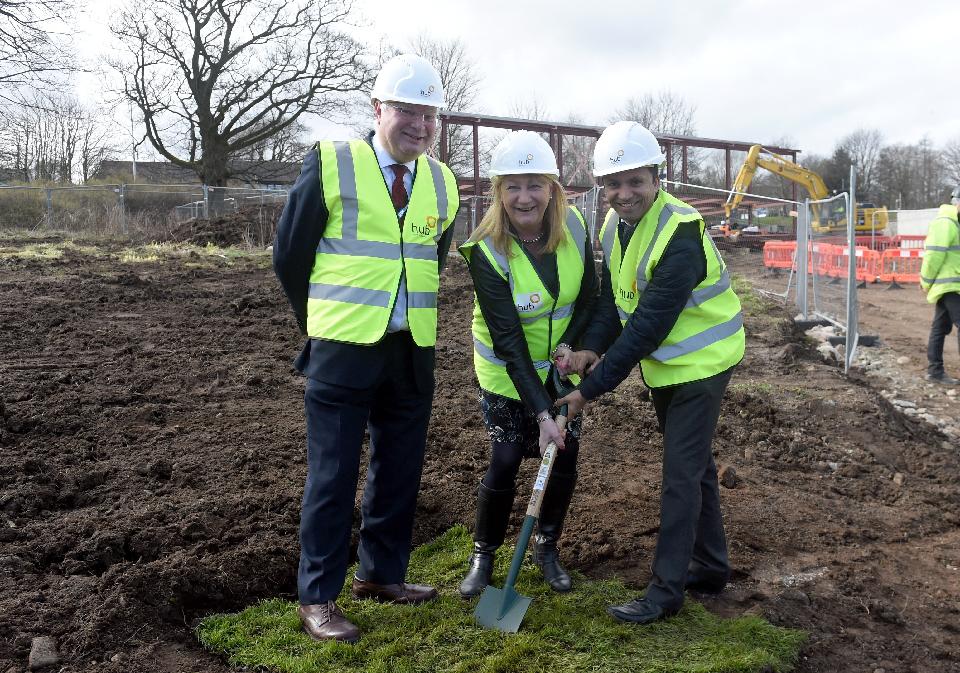 Pictured from left are NHS Grampian Chairman Stephen Logan, Karie Millar, Practise Manager at Westburn and Dr Guru, GP Elmbank practice.