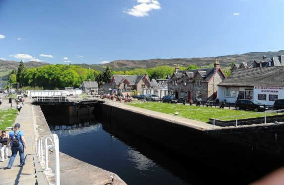 The Caledonian Canal in Fort Augustus.
