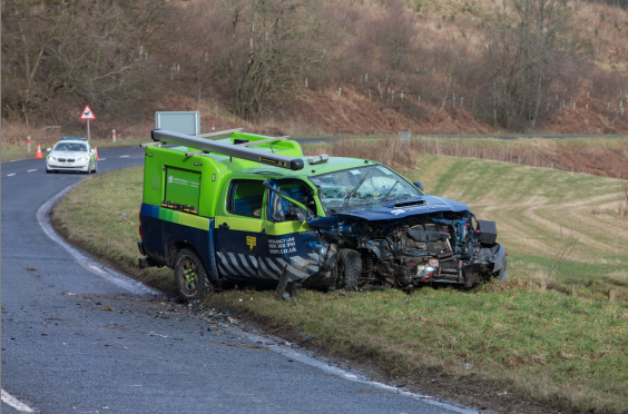 The SSEN Toyota following the crash