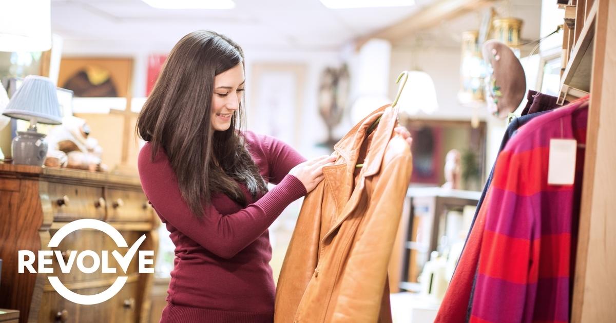 Girl thrift shopping reszied