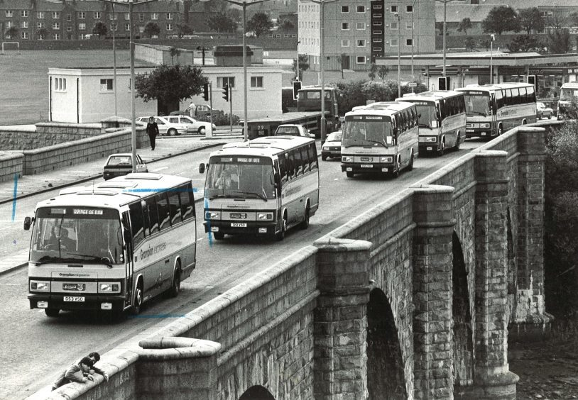 Grampian Bus launched new routes in Bridge of Don and Ellon in 1986