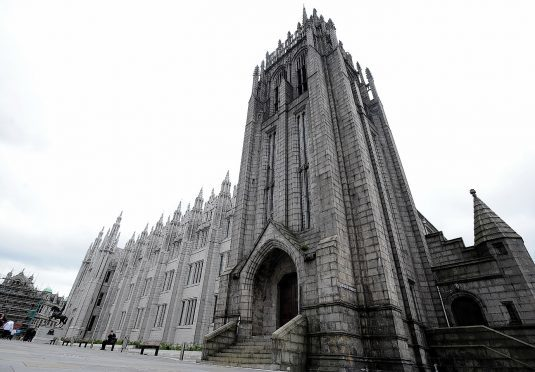 Marischal College and Greyfriars Church, Aberdeen