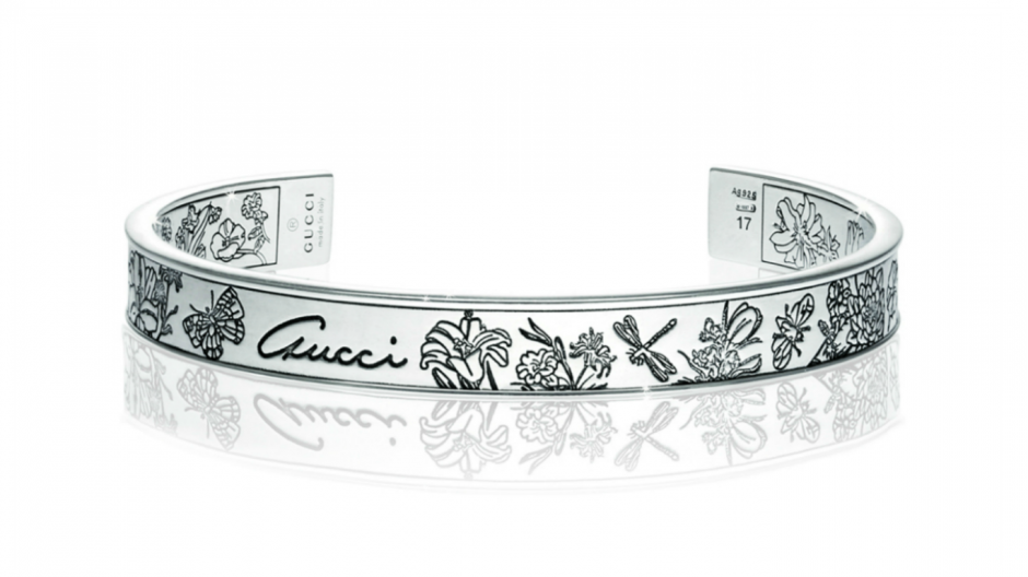Gucci Silver Flora bangle £265.00 from Finnies