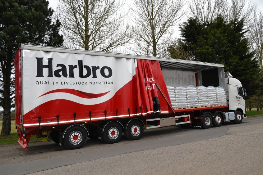A Harbro lorry with a full load of Maxammon destined for France.